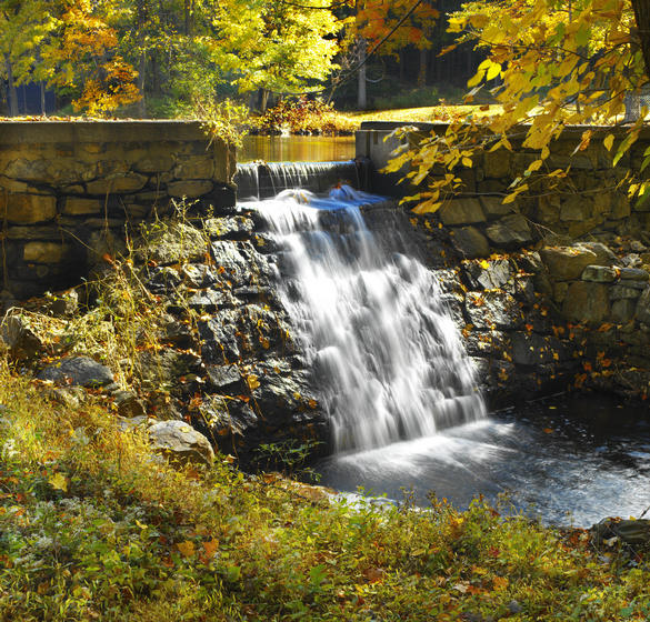 waterfall at Edith Macy Conference Center